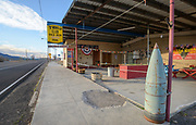 "Open air bar ""Mina Club"" along State Highway 95 in rural Mina, Nevada"