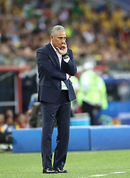 MOSCOW, June 27, 2018  Head coach Tite of Brazil is seen during the 2018 FIFA World Cup Group E match between Brazil and Serbia in Moscow, Russia, June 27, 2018. (Credit Image: © Xu Zijian/Xinhua via ZUMA Wire)