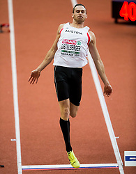 Dominik Distelberger of Austria competes in the Heptathlon Long Jump Men on day two of the 2017 European Athletics Indoor Championships at the Kombank Arena on March 4, 2017 in Belgrade, Serbia. Photo by Vid Ponikvar / Sportida