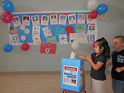 Halpin Early Education Childhood Center students participate in a mock election.<br />
