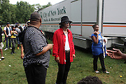 Michael Jackson Impersonator at the Spike Lee's Brooklyn celebration for Michael Jackson's Birthday held at the Neader field in Prospect Park, Brooklyn on August 29, 2009..Filmmaker Spike Lee celebrates the ' King of Pop ' Birthday with a crowd packed party remembering the recently departing All time Great with a day long spinning of his music in Brooklyn's own Prospect Park