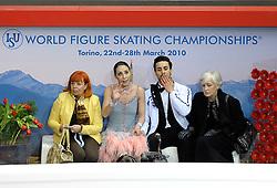23.03.2010, Torino Palavela, Turin, ITA, ISU World Figure Skating Championships Turin 2010 im Bild Federica Faiella und Masimo Scali (ITA), EXPA Pictures © 2010, PhotoCredit: EXPA/ InsideFoto/ Perottino / SPORTIDA PHOTO AGENCY
