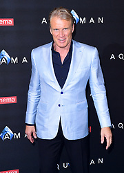 Dolph Lundgren attending the Aquaman premiere held at Cineworld in Leicester Square, London.