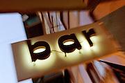 Illuminated Bar sign, Rome, Italy