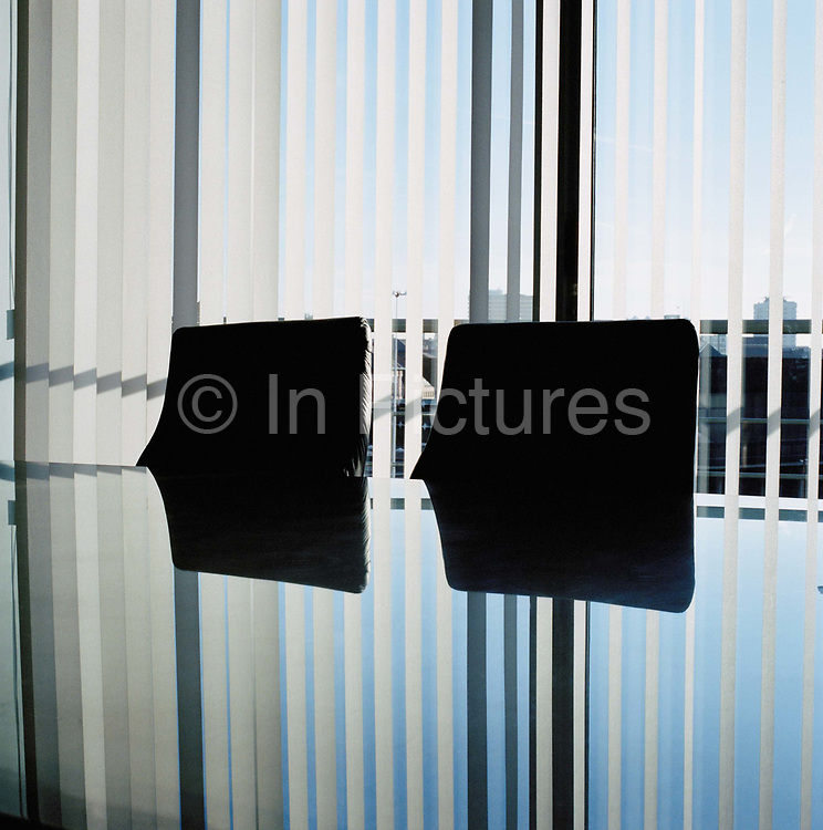Board room at an online share brokers office in Leeds. From the series Desk Job, a project which explores globalisation through office life around the World.