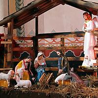 USA, California, Oceanside. Nativity at Old Mission San Luis Rey de Francia.