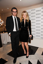 ALICE EVE and Adam O'Riordan at a dinner hosted by jewellers Damiani at The Connaught Hotel, London on 3rd February 2010.