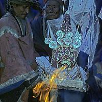 NEPAL, HIMALAYA, Tibetan Buddhist festival held to bless Manang Valley villagers before season trading abroad in Hong Kong, Bangkok etc.
