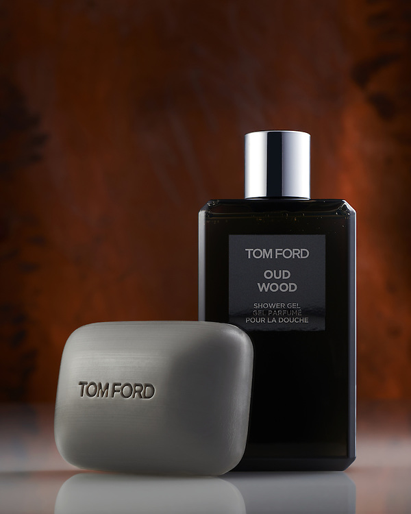 Atlanta Commercial Product Photography - Tom Ford Oud Wood Body Wash & Soap