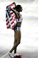 Friidrett, 11. august 2005, VM Helsinki, <br /> World Championships in Athletics<br /> Michelle Perry, USA 100 meter hekk verdensmester