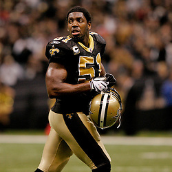 2009 November 30: New Orleans Saints linebacker Jonathan Vilma (51) on the field during a 38-17 win by the New Orleans Saints over the New England Patriots at the Louisiana Superdome in New Orleans, Louisiana.