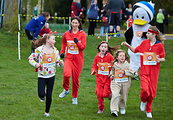 © Licensed to London News Pictures.  23/03/2014. OXFORD, UK.  SAMANTHA CAMERON (centre left) at the end of the Oxford Sport Relief Mile. Photo credit: Cliff Hide/LNP