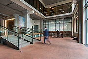Commercial Real Estate Photography of a office building lobby.