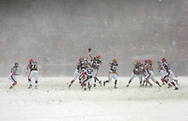 Photo by David Richard.Near-blizzard conditions helped the Browns win 8-0 over Buffalo yesterday.