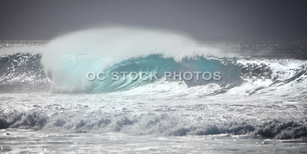 Black and White Scenic Wave with a Blue Hue Undertone