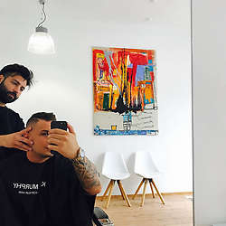 """Pietro Lombardi releases a photo on Instagram with the following caption: """"Neuer Haarschnitt !! Beim besten Friseur @akuratkoeln  schaut vorbei Damen und Herren der Mann. Kann alles \ud83d\udc4c"""". Photo Credit: Instagram *** No USA Distribution *** For Editorial Use Only *** Not to be Published in Books or Photo Books ***  Please note: Fees charged by the agency are for the agency's services only, and do not, nor are they intended to, convey to the user any ownership of Copyright or License in the material. The agency does not claim any ownership including but not limited to Copyright or License in the attached material. By publishing this material you expressly agree to indemnify and to hold the agency and its directors, shareholders and employees harmless from any loss, claims, damages, demands, expenses (including legal fees), or any causes of action or allegation against the agency arising out of or connected in any way with publication of the material."""