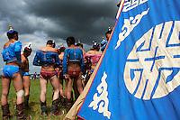 Mongolie, province de Ovorkhangai, Burd, la fete du Naadam, tournoi de lutte // Mongolia, Ovorkhangai province, Burd, the Naadam festival, wrestling tornament