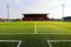 A general view of the pitch at Blundell Park before the match