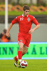REYKJAVIK, ICELAND - Wednesday, May 28, 2008: Wales' Ched Evans makes his debut against Iceland during the international friendly match at the Laugardalsvollur Stadium. (Photo by David Rawcliffe/Propaganda)