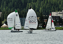 Mirsky, Robertson and Clerc all out in practice for the St. Moritz Match Race. Photo: Chris Davies/WMRT