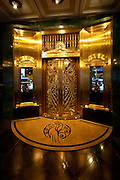 Golden ornamentation in the lobby of Chicago's Palmer House