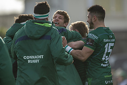 March 2, 2019 - Galway, Ireland - Kyle Godwin of Connacht during the Guinness PRO 14 match  between Connacht Rugby and Ospreys at the Sportsground in Galway, Ireland on March 2, 2019  (Credit Image: © Andrew Surma/NurPhoto via ZUMA Press)