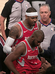 October 20, 2018 - Los Angeles, California, U.S - Chris Paul #3 of the Houston Rockets is ejected during their NBA game with the Los Angeles Lakers on Saturday October 20, 2018 at the Staples Center in Los Angeles, California. Rondo and Paul were ejected. (Credit Image: © Prensa Internacional via ZUMA Wire)
