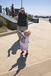 Sheila Youngblood, Grayce Running To J. Nichols At Golden Gate Bridge