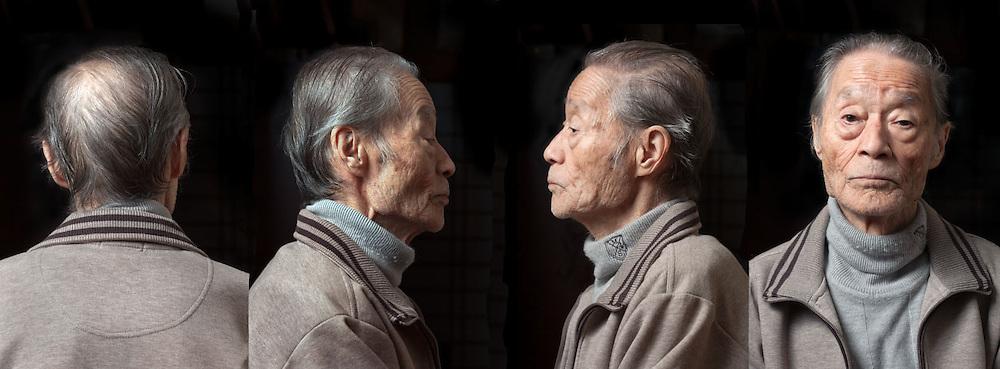 portrait of elderly over 80 years Japanese man