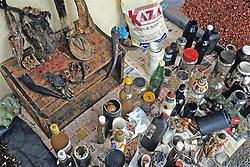 Street Market With Animal Goods