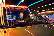 Officer Jim Gleasman of the Pulaski Police Department on duty in the Town Of Pulaski, N.Y.