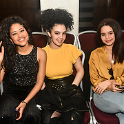 Backstage and attendees at the SMGlobal Catwalk - London Fashion Week F/W19 Hair Stylist by Stella Tsiledaki  and makeup by Ellie Salehzahi MUA and Sweta Hussain at Clayton Crown Hotel,  Cricklewood Broadway, on 1st March 2019, London, UK.