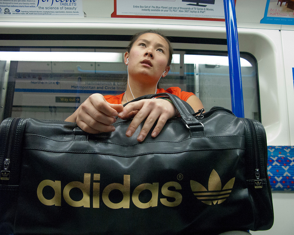 Portrait of a female londoner on the London Underground Network
