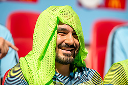 August 5, 2018 - lkay Gundogan of Manchester City cover his head due to the heat during the 2018 FA Community Shield match between Chelsea and Manchester City at Wembley Stadium, London, England on 5 August 2018. (Credit Image: © AFP7 via ZUMA Wire)