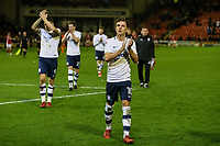 Preston North End's Josh Harrop applauds the travelling fans as he leaves the pitch<br /> <br /> Photographer Andrew Kearns/CameraSport<br /> <br /> The EFL Sky Bet Championship - Barnsley v Preston North End - Tuesday 26th December 2017 - Oakwell - Barnsley<br /> <br /> World Copyright © 2017 CameraSport. All rights reserved. 43 Linden Ave. Countesthorpe. Leicester. England. LE8 5PG - Tel: +44 (0) 116 277 4147 - admin@camerasport.com - www.camerasport.com