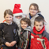 Siblings Emer, Niall, Graínne and Conor Bourke from Quilty visit Santa at the Kilmurry Ibrickane GAA Centenary Closing Ceremony