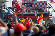 September 10-12, 2010: Italian Grand Prix. Fernando Alonso, Ferrari, Jenson Button, Mclaren, Felipe Massa, Ferrari