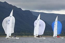 Marine Blast Regatta 2013 - Holy Loch SC<br /> <br /> Etchells downwind<br /> <br /> Credit: Marc Turner / PFM Pictures