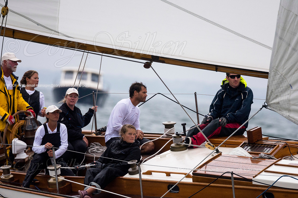 Sonny sailing in the Sail Nantucket Regatta, day one.