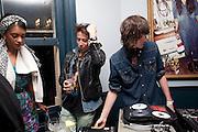 CHANTELLE; NICK GRIMSHAW; GEORGE CRAIG, WranglerÕs Nottinghill Carnival Party at the Bumpkin restaurant.  Westbourne Park Rd. London W1. 28 August 2011. <br /> <br />  , -DO NOT ARCHIVE-© Copyright Photograph by Dafydd Jones. 248 Clapham Rd. London SW9 0PZ. Tel 0207 820 0771. www.dafjones.com.<br /> CHANTELLE; NICK GRIMSHAW; GEORGE CRAIG, Wrangler's Nottinghill Carnival Party at the Bumpkin restaurant.  Westbourne Park Rd. London W1. 28 August 2011. <br /> <br />  , -DO NOT ARCHIVE-© Copyright Photograph by Dafydd Jones. 248 Clapham Rd. London SW9 0PZ. Tel 0207 820 0771. www.dafjones.com.