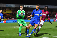 Wimbledon goalkeeper Aaron Ramsdale (35) collects the ball during the The FA Cup fourth round match between AFC Wimbledon and West Ham United at the Cherry Red Records Stadium, Kingston, England on 26 January 2019.