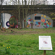 London,England,UK : 11th April 2016 : 13 world-renowned, street artists painting 'Endangered 13' Project raising awareness Endangered animal going to extinction at Ackroyd Drive, Sponsor by Tower Hamlets council in London. Photo by See Li