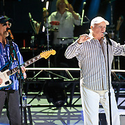 COLUMBIA, MD - June 15th, 2012 - David Marks (L) and Mike Loveof The Beach Boys perform at Merriweather Post Pavilion as part of the band's 50th Anniversary Reunion Tour. This tour marks the first time chief songwriter Brian Wilson has done a full range of dates with the band since 1965. (Photo by Kyle Gustafson/For The Washington Post)