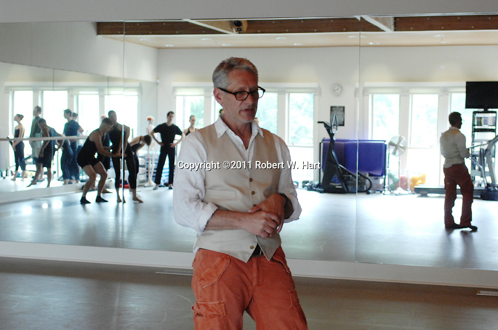 Bruce Wood talks about the creation of The Bruce Wood Dance Project on May 18, 2011 in Dallas, Texas....Special Contributor/Robert W. Hart