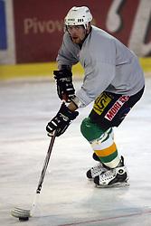 Andrej Tavzelj at second ice hockey practice of HDD Tilia Olimpija on ice in the new season 2008/2009, on August 19, 2008 in Hala Tivoli, Ljubljana, Slovenia. (Photo by Vid Ponikvar / Sportal Images)