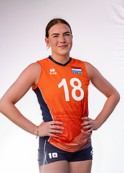 Puck Hoogers of Netherlands, Photoshoot selection of Orange women's youth volleybal team season 2021on june 15, 2021 in Arnhem, Netherlands (Photo by RHF Agency/Ronald Hoogendoorn)