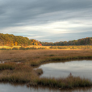 Late afternoon light on a fall day; marshes in Ipswich, Massachusetts