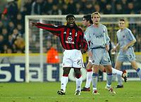 Fotball<br /> UEFA Champions League 2003/2004<br /> 04.11.2003<br /> Club Brügge / Brugge v AC Milan<br /> Clarence Seedorf - Milan<br /> Foto: Morten Olsen, Digitalsport