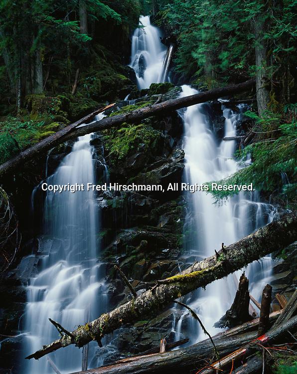 Ranger Falls on Ranger Creek, Mount Rainier National Park, Washington.