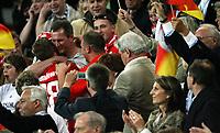 GEPA-0806086254 - KLAGENFURT,AUSTRIA,08.JUN.08 - FUSSBALL - UEFA Europameisterschaft, EURO 2008, Deutschland vs Polen, GER vs POL. Bild zeigt Lukas Podolski (GER) bei den Fans.<br />Foto: GEPA pictures/ Doris Schlagbauer